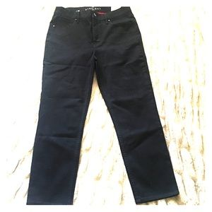 WHBM High Rise Straight Crop Jeans
